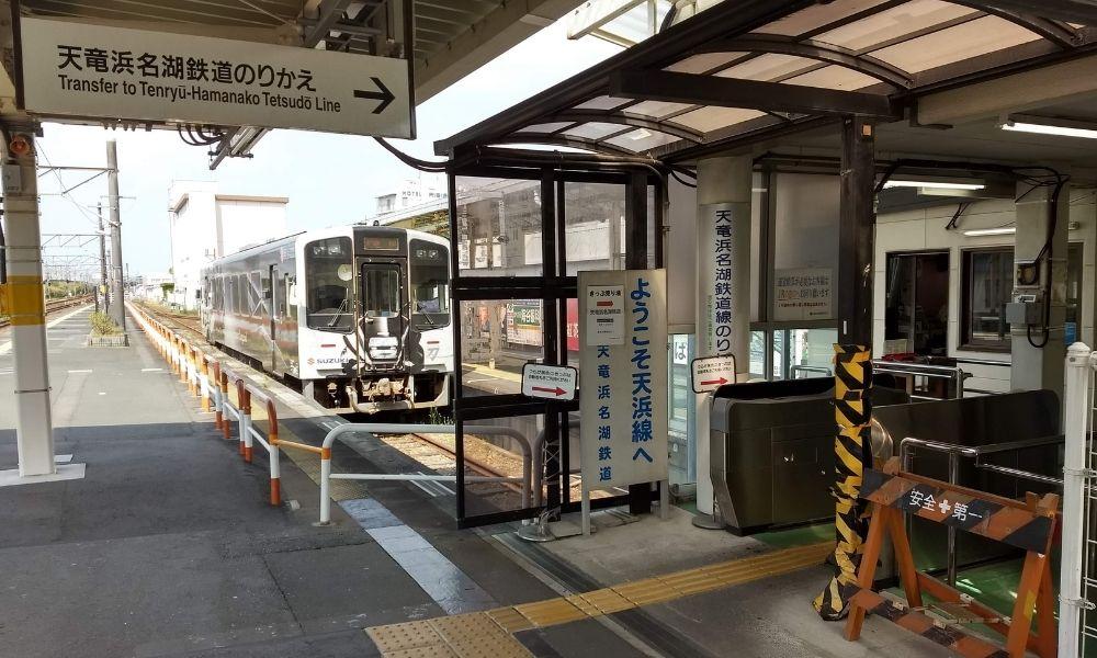 JR掛川駅1番ホーム 天浜線のりかえ場所