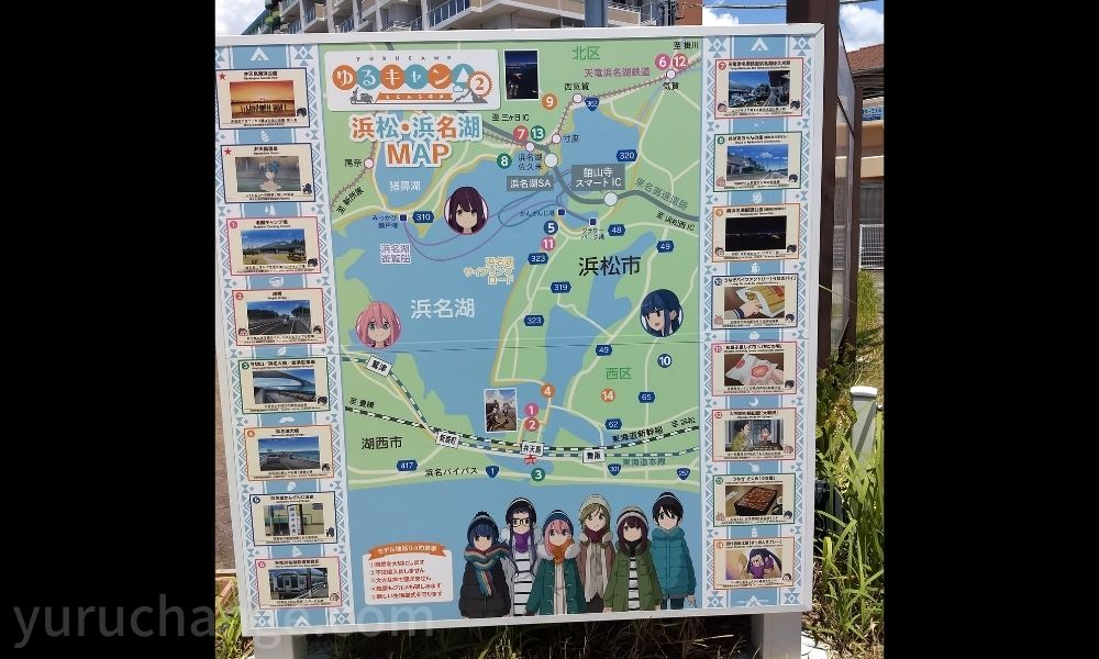 弁天島海浜公園になるゆるキャンのモデル地マップ
